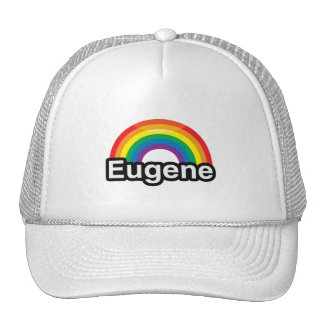 EUGENE LGBT PRIDE RAINBOW -.png Trucker Hat