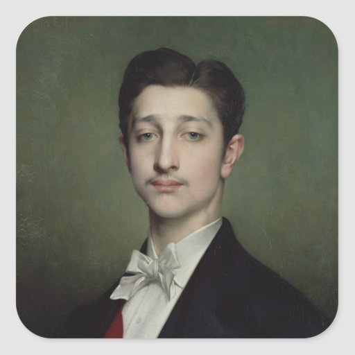 Eugene-Louis-Napoleon Bonaparte  1874 Square Stickers