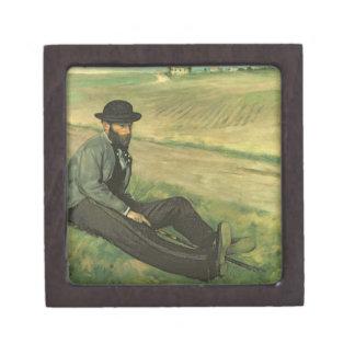 Eugene Manet (aceite en lona) Caja De Regalo De Calidad