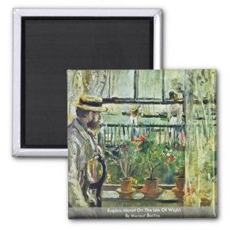Eugène Manet en la isla del Wight Imanes De Nevera