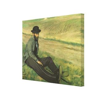 Eugene Manet oil on canvas Canvas Prints