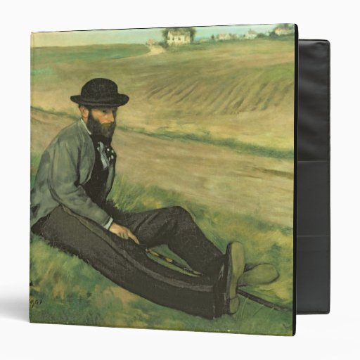 Eugene Manet (oil on canvas) Vinyl Binder