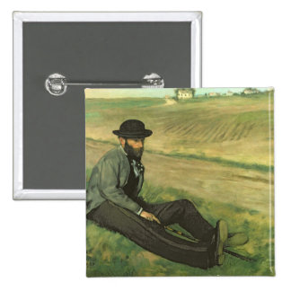 Eugene Manet (oil on canvas) Pinback Button