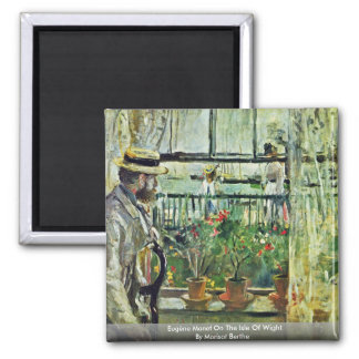 Eugène Manet On The Isle Of Wight 2 Inch Square Magnet
