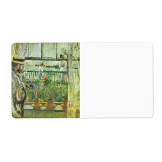 Eugene Manet on the Isle of Wight by Morisot Personalized Shipping Label
