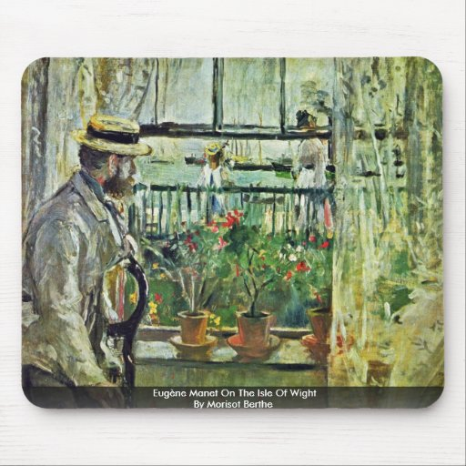 Eugène Manet On The Isle Of Wight Mouse Pads