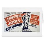 Eugene ONeill Emperor 1937 WPA Card