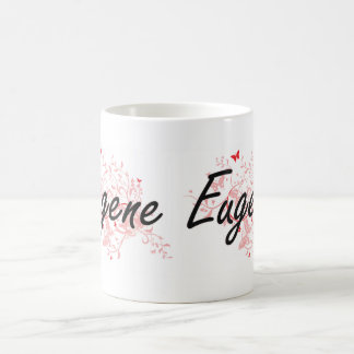Eugene Oregon City Artistic design with butterflie Coffee Mug