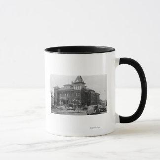Eugene, Oregon Scene with City Hall Photograph Mug