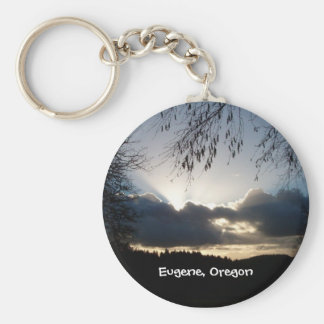 Eugene, Oregon Sunset Keychain