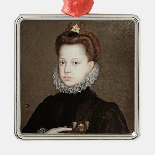 Eugenia de Isabel Clara de la infanta Adorno Cuadrado Plateado