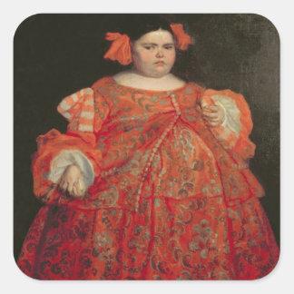 Eugenia Martinez Vallejo, called La Monstrua (oil Square Stickers