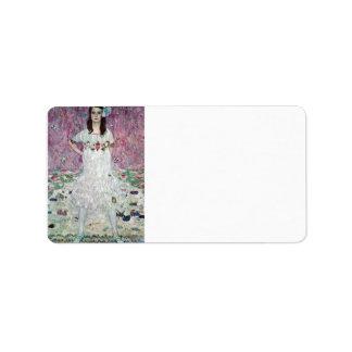 Eugenia Primavesi by Gustav Klimt Label