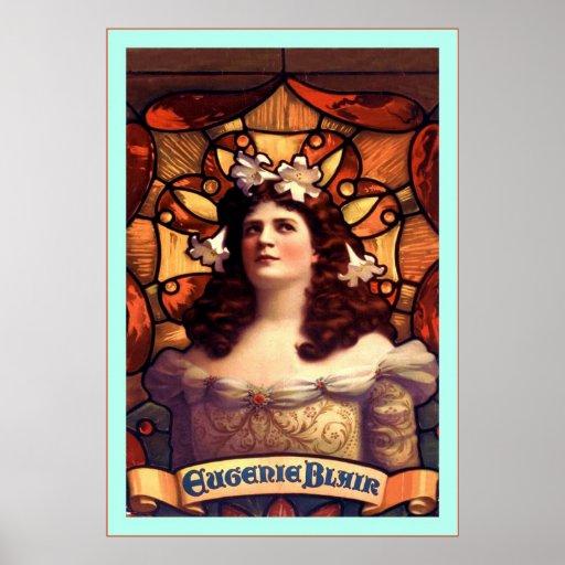 ~ Eugenie Blair del poster de teatro del vintage