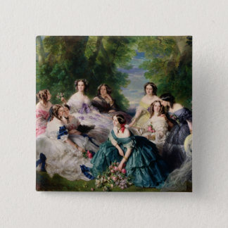 Eugenie Surrounded by her Ladies-in-Waiting Button