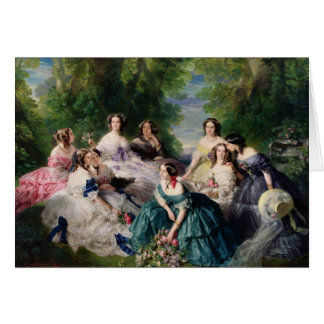 Eugenie Surrounded by her Ladies-in-Waiting Card