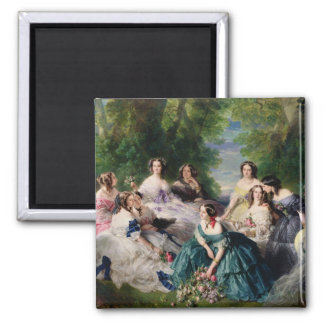 Eugenie Surrounded by her Ladies-in-Waiting Magnet