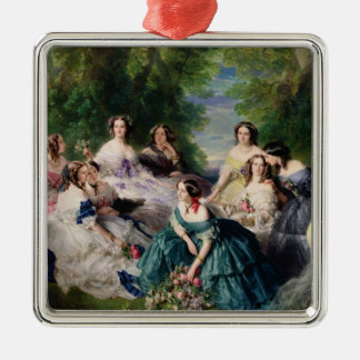 Eugenie Surrounded by her Ladies-in-Waiting Metal Ornament