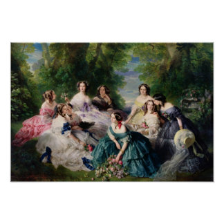Eugenie Surrounded by her Ladies-in-Waiting Poster