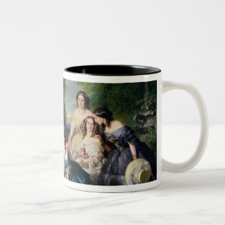 Eugenie Surrounded by her Ladies-in-Waiting Two-Tone Coffee Mug