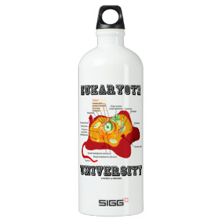 Eukaryote University (Animal Cell) Aluminum Water Bottle