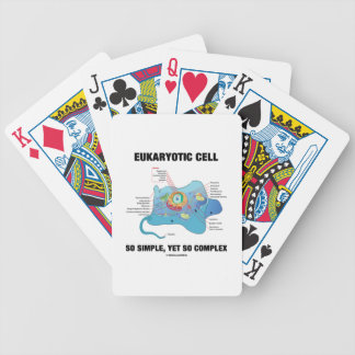 Eukaryotic Cell So Simple, Yet So Complex Bicycle Playing Cards