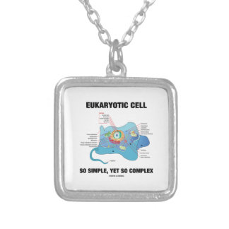 Eukaryotic Cell So Simple, Yet So Complex Silver Plated Necklace