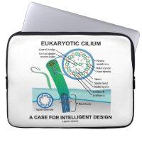 Eukaryotic Cilium A Case For Intelligent Design Laptop Computer Sleeve