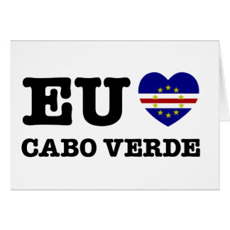 Eul Amo Cabo Verde Greeting Card
