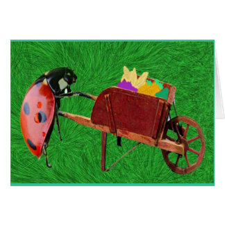 Eula And Her Red Wheelbarrow Greeting Card