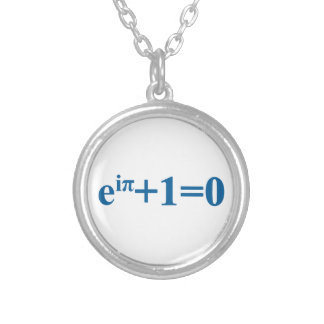 Eular math equation silver plated necklace