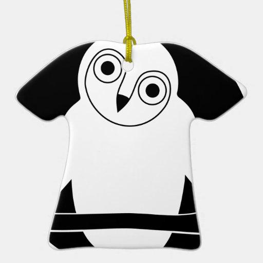 eule animal t-shirt owlet owl moon mond adorno de cerámica en forma de playera