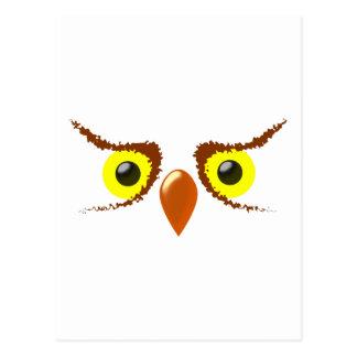 Eule Augen owl eyes Postcard
