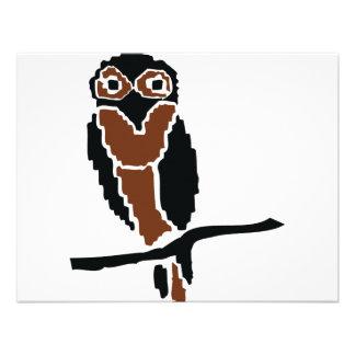 eule del owlet del búho invitación