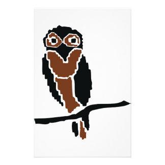 eule del owlet del búho papelería personalizada