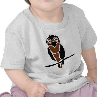 eule del owlet del búho camisetas