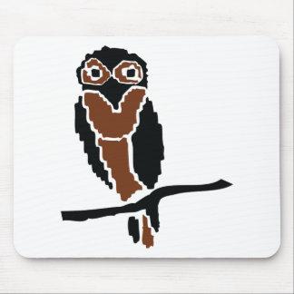 eule del owlet del búho alfombrilla de raton