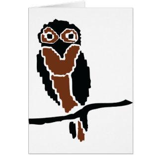 eule del owlet del búho felicitaciones