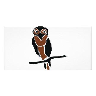 eule del owlet del búho tarjetas fotograficas