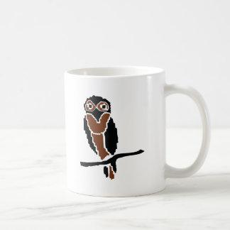eule del owlet del búho taza de café