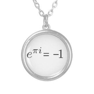 Euler formula! silver plated necklace