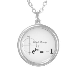 Euler Identity Formula Silver Plated Necklace