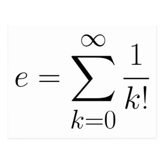 Euler s number series post card
