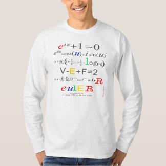 Euler's Formula, Men's Long Sleeved Math T-Shirt: T-Shirt