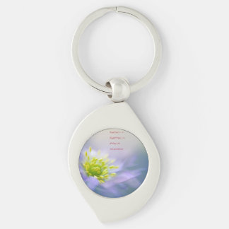 Euler's Identity Begs Questions Silver-Colored Swirl Metal Keychain