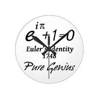 Euler's Identity Wall Clocks