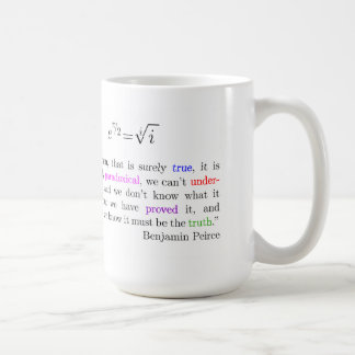 Euler's identity coffee mug