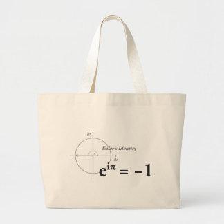 Euler's Identity Math Formula Large Tote Bag