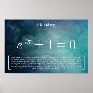 Euler's Identity - Math Poster