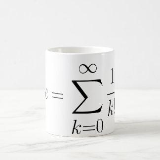 Euler's number series coffee mug